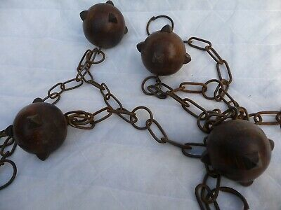 Antique X4 Balls and Old Chain for project or repurpose for new Project ?