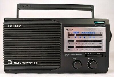 Sony ICF 34 Portable Radio 4 Band AM FM TV Weather