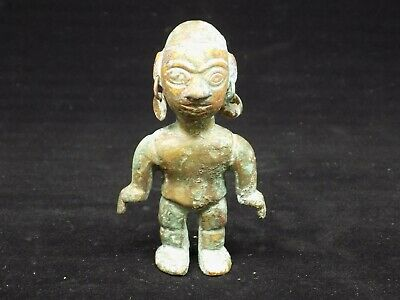 Pre-Columbian Copper Miniature Idol, Chimu-Incan
