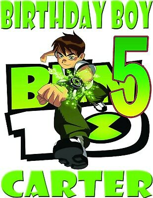 Ben 10 Birthday Shirt Personalized Name and Age Custom Ben 10 Tee Family Party