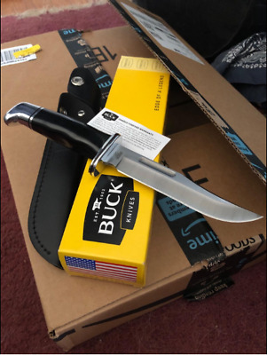 119 Special Fixed Blade Knife with Leather Sheath Buck Knives Free Shipping