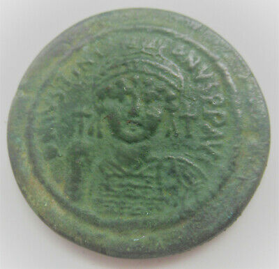 Unidentified Large Ancient Byzantine Follis Coin