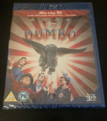 Dumbo (3D Edition with 2D Edition) [Blu-ray] New & Sealed