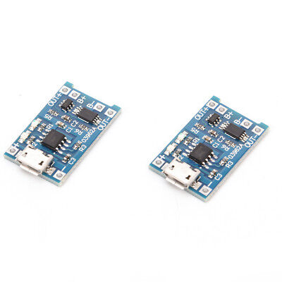 2PCS TP4056 5V 1A USB 18650 Lithium Battery Charger Board Protection Module FES