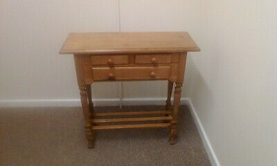 Old Pine Hall Table Console Table