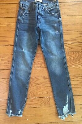 "Gap Jeans  Womens High Rise Slim Straight Distressed 27"" Nwt"
