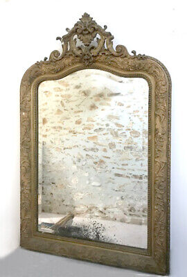 Beautiful French Antique Louis Xv Crested Mirror