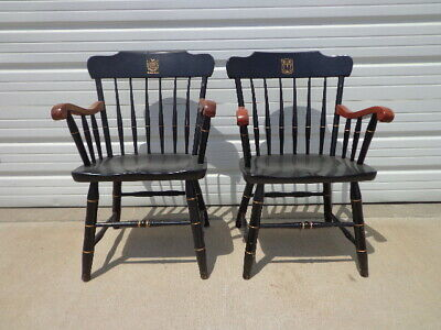 2 Antique Wood Armchairs American Chairs Seating Mid Century Modern Seating