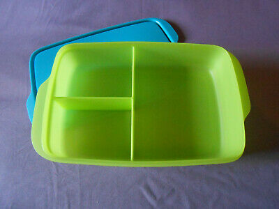Tupperware Large Lunch it divided container bento box rectangular sandwich New