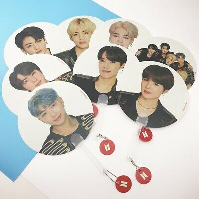 KPOP BTS World Tour LOVE YOURSELF Bangtan Boys Mini Fan Transparent Hand Fan
