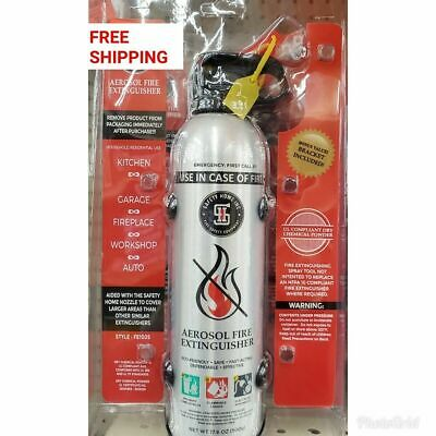 Saftey Home Aerosol Fire Extinguisher & Standard Home Kitchen Fire Kit