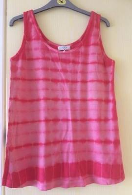 Brand New Maternity Tesco Red Tie Die Summer Holiday Sleeveless Vest Top 10