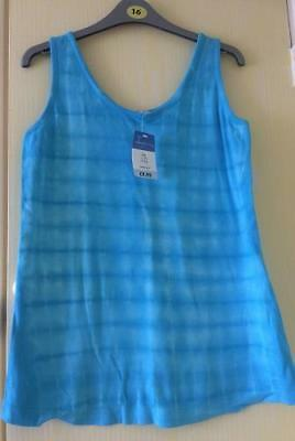 Brand New Maternity Tesco Blue Tie Die Summer Holiday Sleeveless Vest Top 10