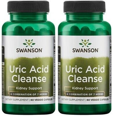 2X Uric Acid Cleanse x 60 (120 ) Veggie Capsules - 24HR DISPATCH