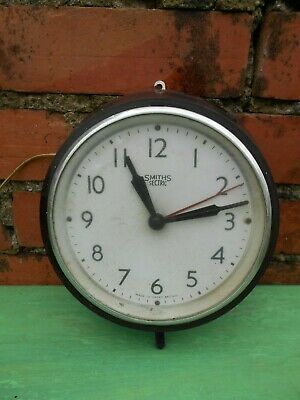 SMITHS SECTRIC BAKELITE  18cm ELECTRIC 250V VINTAGE WALL CLOCK , SPARES /REPAIR