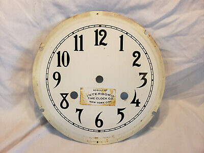 Antique Wall Clock International Time Recording Co. Endicott NY - Face Plate