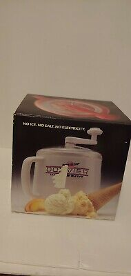 Brand New Red Donvier Premiere 1 Quart Manual Ice Cream Maker Made In Japan