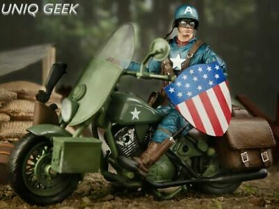 Marvel Legends  80 Years Captain America With Motorcycle Action Figure