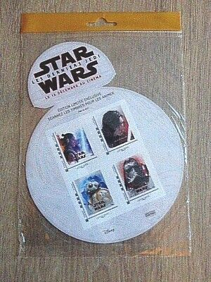 Serie  Star Wars  /  Edition  Collector  De  4  Timbres