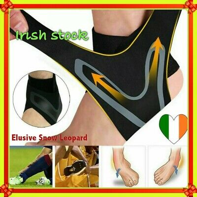 Elastic Ankle Support Sleeve Sport Foot Wrap Strap Brace Compression Plantar Gym