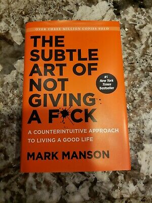 The Subtle Art of Not Giving a F*ck by Mark Manson Hardcover used like new book