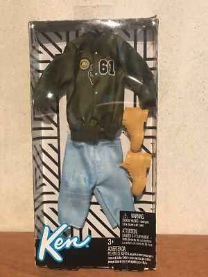 Barbie Doll Fashionistas Ken Boy Clothes Jacket Shorts Boots Outfit NEW