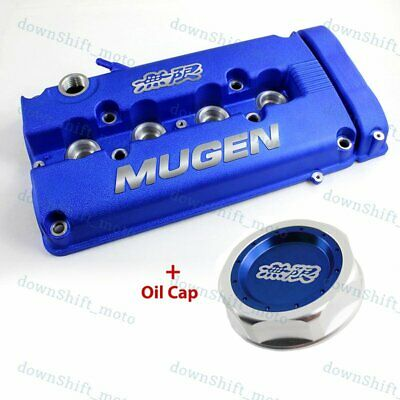 Blue MUGEN Style Engine Valve Cover with Oil Cap For 1999 - 2000 Honda CIVIC SI