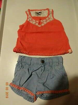 Lucky Brand Baby Girl Outfit Set Size 18 Months,Multi Color