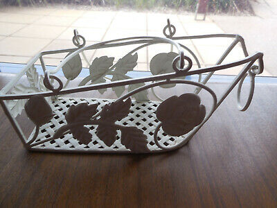 Vintage Wrought Iron Bottle Carrier