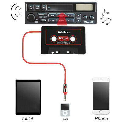 New MP3 Stereo Car Tape Cassette to AUX Audio Adapter Converter for iPhone iPod