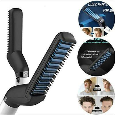 Quick Beard Straightener Multifunctional Hair Comb Curling Curler Show Cap Men's