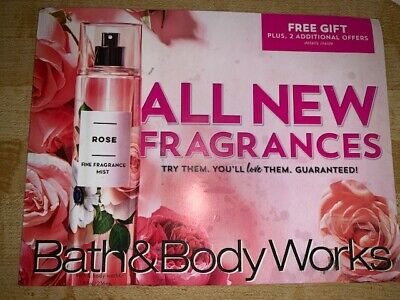 Bath and Body Works Coupons $6 Gift 20% Off Fine Fragrance Mist Exp. Aug 29