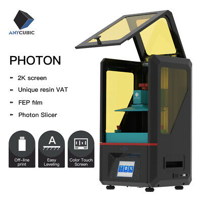 Anycubic SLA Photon LCD 3D Printer Light Curing Resin UV TFT Color Touchscreen