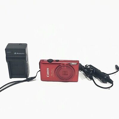Canon Powershot ELPH 300 HS 12.1 Megapixels Red with Charger