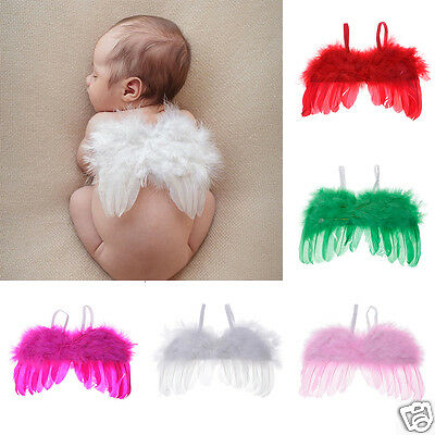 New Baby Infants Newborn Feather Angel Wings Fashion Photo Decor Photo Prop