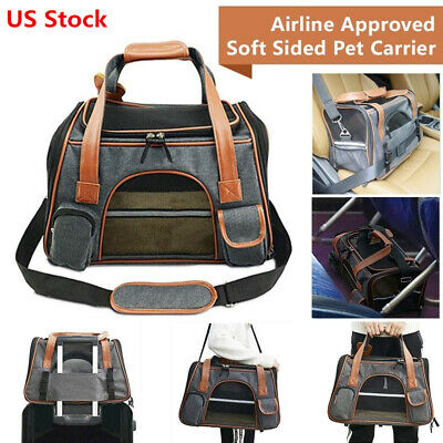 Luxury Airline Approved Soft-Sided Comfort Pet Dog Cat Travel Carrier Tote Bags