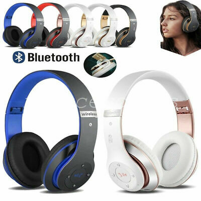 Wireless Headphones Bluetooth Headset Noise Cancelling Microphone Ear Over H6B4