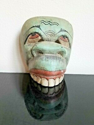 Hand Carved and Painted Southeast Asian Wooden Mask, Art Decoration, Undated