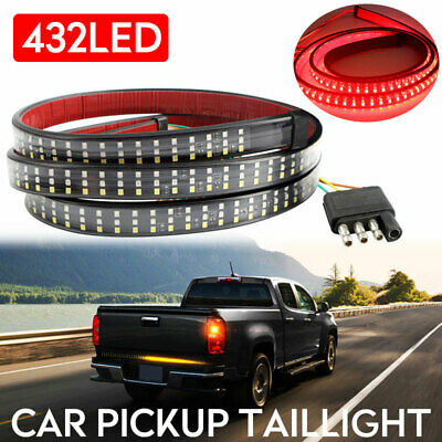 "60"" Truck Tailgate 432 LED Light Bar Brake Reverse Turn Signal Stop Tail Strip"