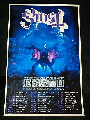 GHOST 12x18 THE ULTIMATE TOUR NAMED DEATH TOUR POSTER PAPA EMERITUS TOBIAS FORGE