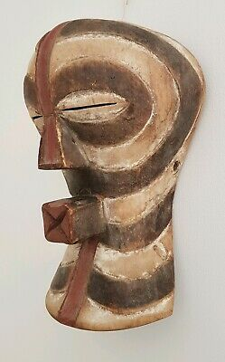 Rare 1950's Songye Kifwebe Face Mask African Tribal Art Congo Very Nice Piece 👀