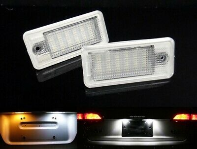2x Audi License Number Plate LED Light HID White A3 A4 A5 A6 A8 Q7 RS6 S3 B6 B7