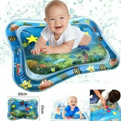 Inflatable Baby Water Play Mat Kids Infants Toddlers Fun Tummy Time Sea Animals