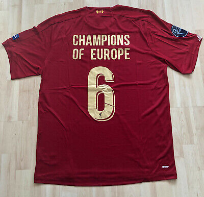 Liverpool Football Shirt 2019 2020 - Champions Of Europe - M - New With Tags