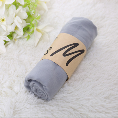 2019 Gray Style Laies Women Scarves Long Soft Cotton Scarf Wrap Girls Shawl