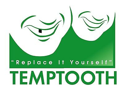 Temptooth: Temporary Tooth, Temp Tooth, False, Missing DIY Tooth Kit, Free Post.