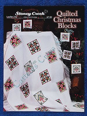 Cross Stitch Pattern Quilted Christmas Blocks for Evenweave Throw Ormanents