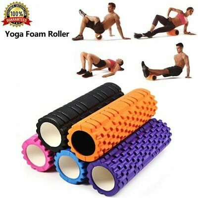 Yoga Foam Roller Injury Physio Gym Sport Muscle Exercise Textured Grid Pilates