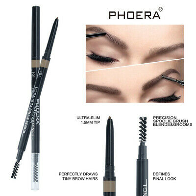PHOERA Double Ends Eyebrow Pencil Ultra Thin Tip Waterproof Long-lasting Pen new