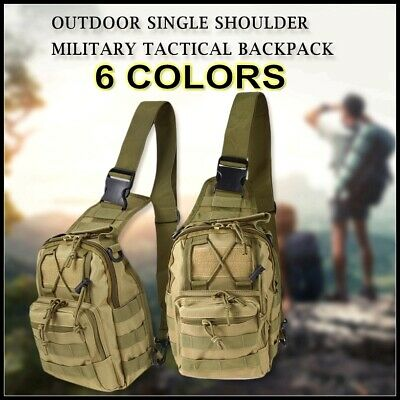 Outdoor Shoulder Backpack Military Tactical Travel Camping Hiking Trekking Bag